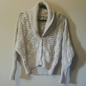 Free People Wool Button Down Sweater
